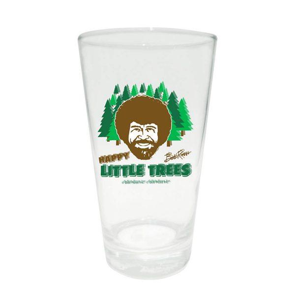 Bob Ross Little Trees Pint Glass