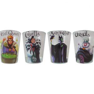 Disney Villains 4pc Shot Glass