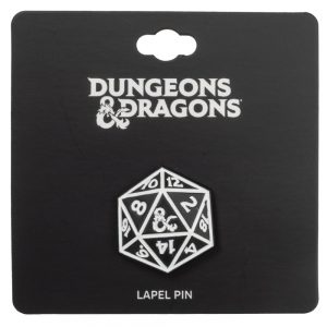 Dungeons and Dragons D20 Lapel Pin