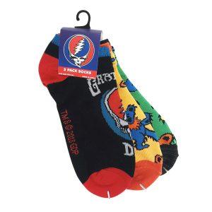 Grateful Dead 3pk Socks