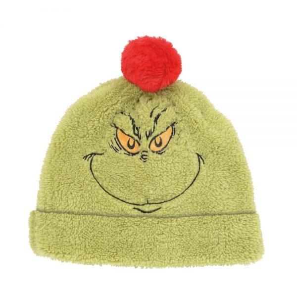 Grinch Sherpa Fleece Hat