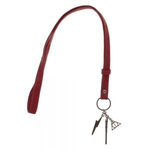 Harry Potter Leather Lanyard With Charms
