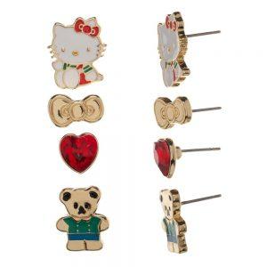 Hello Kitty 4pc Earrings