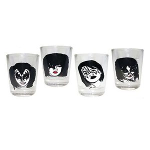 Kiss 4pc Shot Glass Set