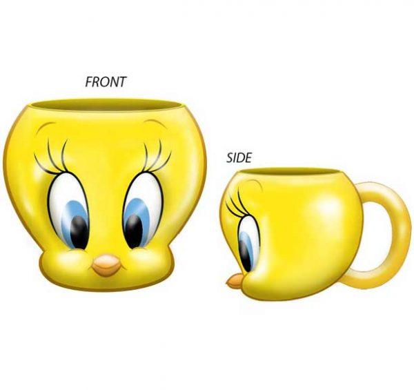 Looney Tunes Tweety Bird Molded Mug