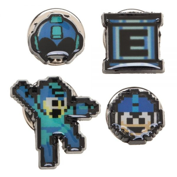 Megaman 4pc Lapel Pin Set