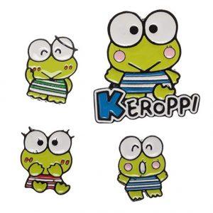 Sanrio Keroppi 4pc Lapel Pin Set
