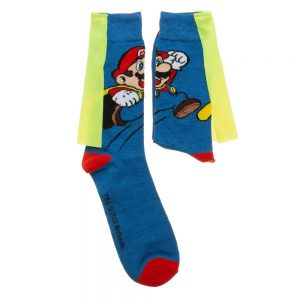 Super Mario Caped Socks