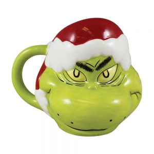 The Grinch Santa Hat Molded Mug