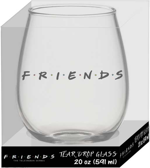 Friends Doodle Stemless Glass