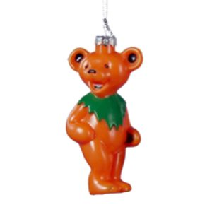 Grateful Dead Orange Bear Ornament