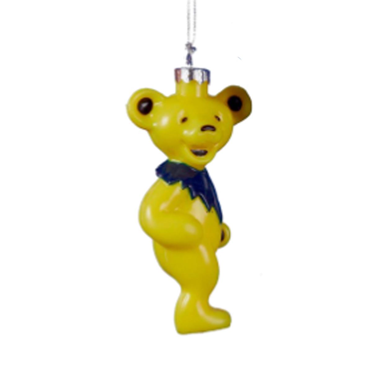 Grateful Dead Christmas Ornament.Grateful Dead Yellow Bear Ornament
