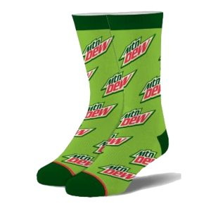 Mountain Dew All Over Socks