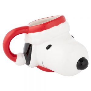 Peanuts Santa Snoopy Molded Mug