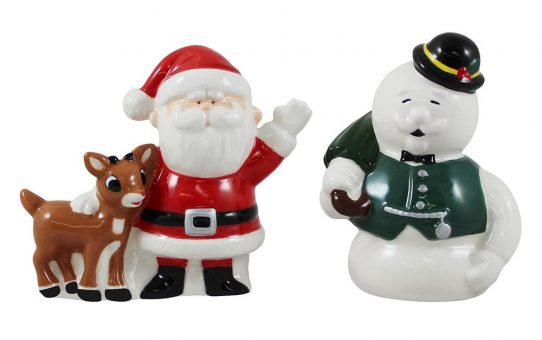 Rudolph Santa and Snowman Salt and Pepper Shakers
