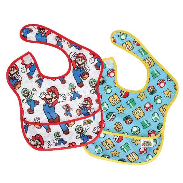 Super Mario 2pk Baby Bibs