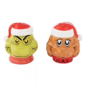 The Grinch and Max Salt and Pepper Shakers