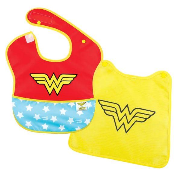 Wonder Woman Baby Bib with Cape