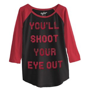 A Christmas Story Shoot Eye Juniors Jersey