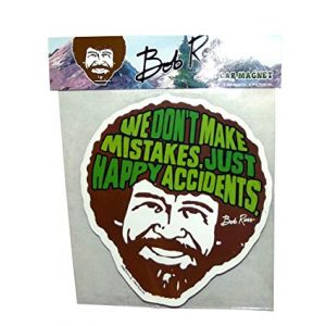 Bob Ross Happy Accidents Car Magnet