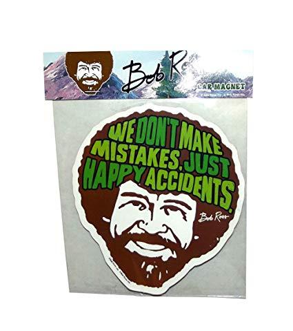 Bob Ross Happy Accidents Car Magnet
