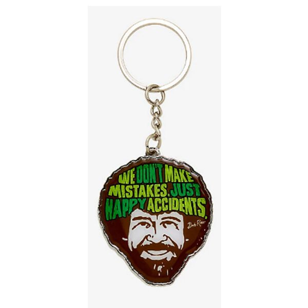 Bob Ross Happy Accidents Keychain