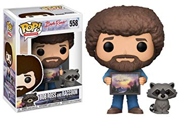 Bob Ross and Raccoon Funko Pop Vinyl