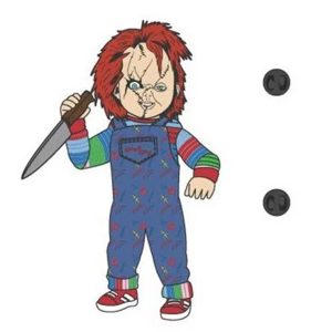Child's Play Chucky 3 Inch Lapel Pin
