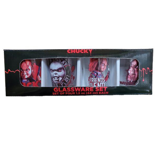 Child's Play Chucky 4pc Shot Glass Set