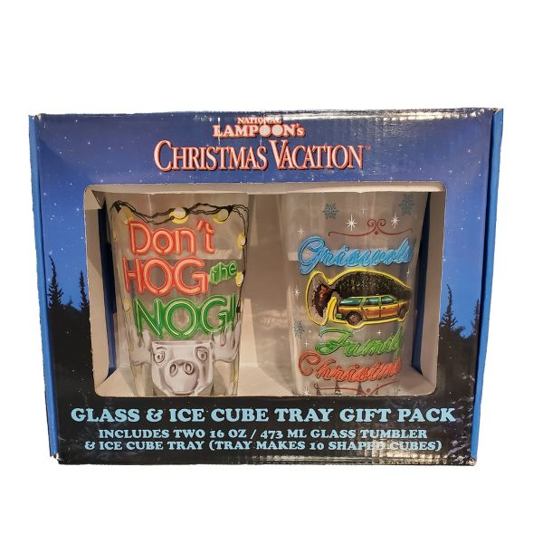Christmas Vacation Glasses & Ice Cube Tray Gift Pack