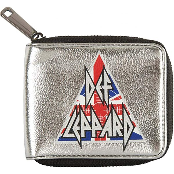 Def Leppard Silver Zip Wallet