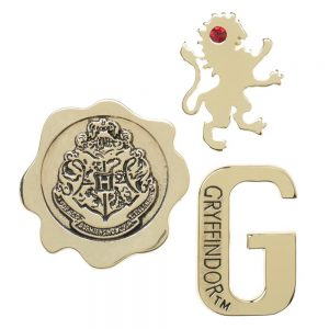 Harry Potter 3pc Gryffindor Lapel Pin Set