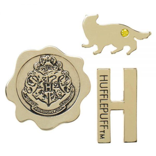 Harry Potter 3pc Hufflepuff Lapel Pin Set
