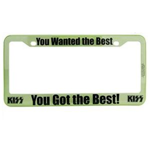 Kiss The Best License Plate Frame