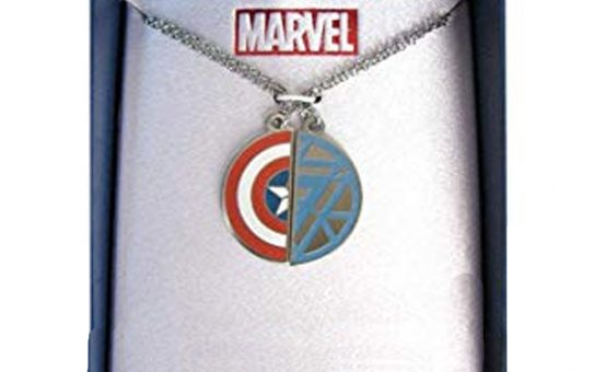 Marvel Captain America and Iron Man Friendship Necklaces
