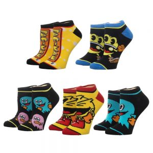 Pac-Man 5pk Socks