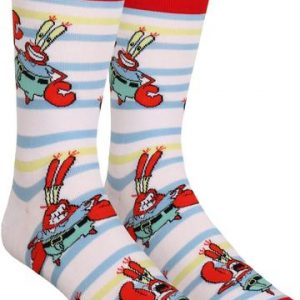 Spongebob Squarepants Mr Krabs Striped Socks