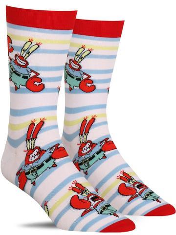 Spongebob Squarepants Mr Krabs Striped Socks