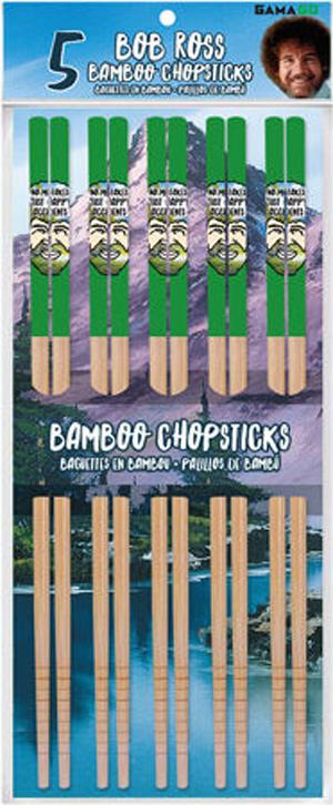 Bob Ross 5pk Bamboo Chopsticks