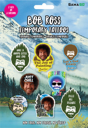 Bob Ross Temporary Tattoos