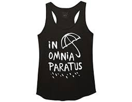Gilmore Girls In Omnia Paratus Juniors Tank Top
