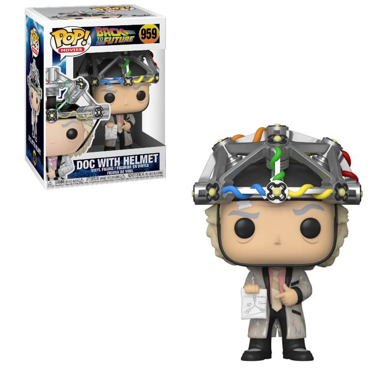Back to the Future Doc in Helmet Funko Pop Vinyl