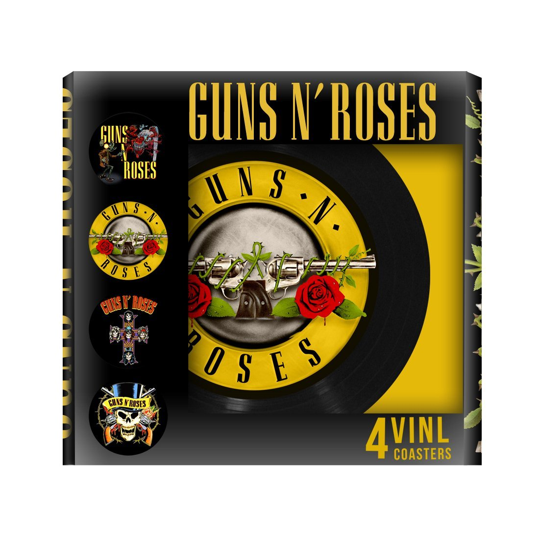 Guns N Roses 4pc Vinyl Coaster Set