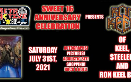 Ron Keel in the store on July 31st!