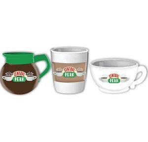 Friends 3pc Sculpted Mini Cup Set