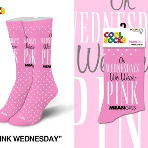 Mean Girls Wednesday Wear Pink Socks
