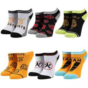 Naruto 6pk Youth Socks