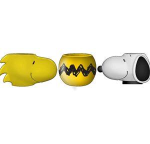 Peanuts 3pc Sculpted Mini Cup Set