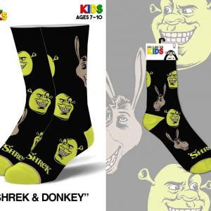 Shrek and Donkey Youth Socks