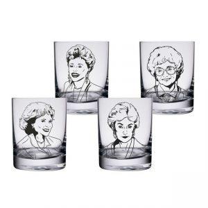 The Golden Girls 4pc Highball Glasses
